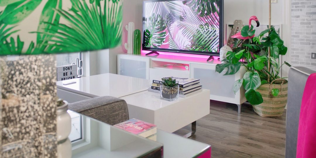 colorful home decor of living room